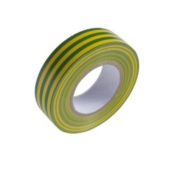 Cinta Aislante 20 m. x 19 mm.  Amarilla / Verde Uso...