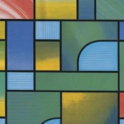 Lamina Adhesiva Translucida Vidriera Verde 45 cm. x 20...