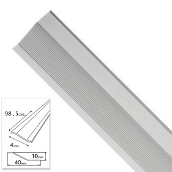Tapajuntas Adhesivo Para Ceramica Aluminio Plata   98,5 cm.