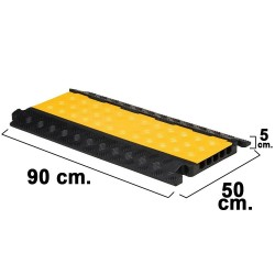 Pasacables Para Suelo 5 Canales 90x50x5 cm.