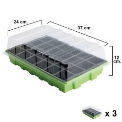 Semillero Germinación Invernadero 24 Compartimentos Con...