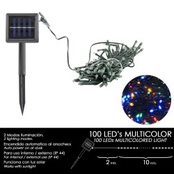 Luces Navidad Solar 100 Leds Multicolor Interior /...